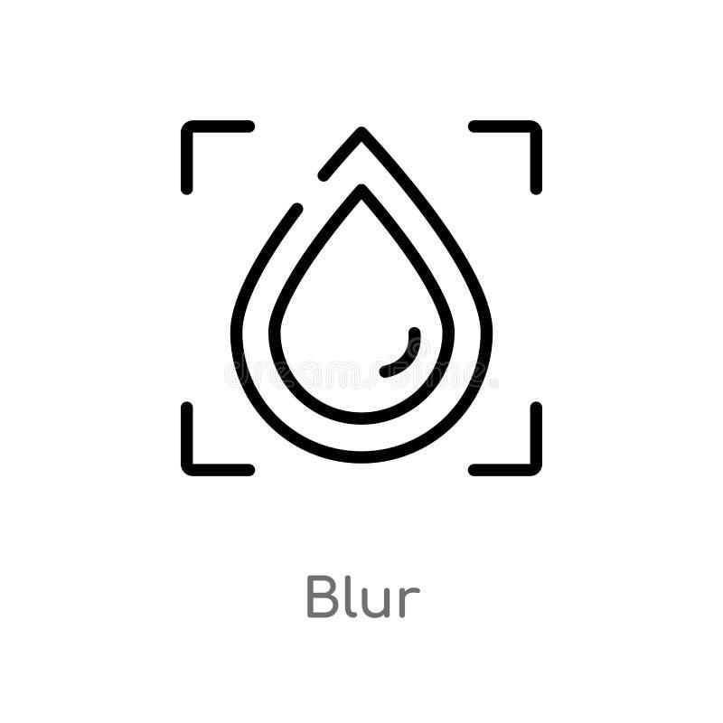icona di vettore della sfuocatura del profilo linea semplice nera isolata illustrazione dell'elemento dal concetto di fotografia  illustrazione vettoriale