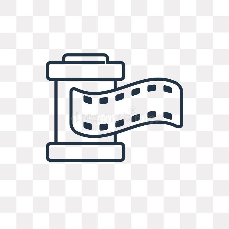 Icona di vettore della striscia di pellicola isolata su fondo trasparente, linea royalty illustrazione gratis