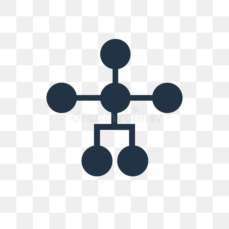 Icona di vettore della struttura gerarchica isolata su backg trasparente royalty illustrazione gratis