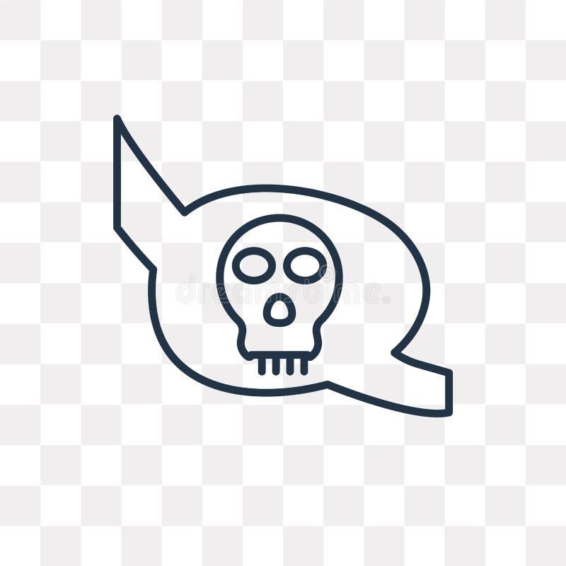 Icona di vettore della toppa dell'occhio isolata su fondo trasparente, lineare illustrazione di stock