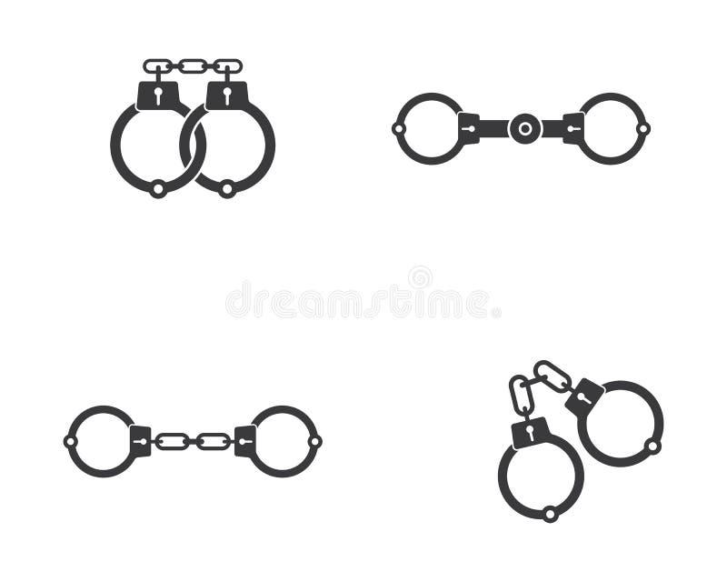 Icona di vettore delle manette illustrazione vettoriale