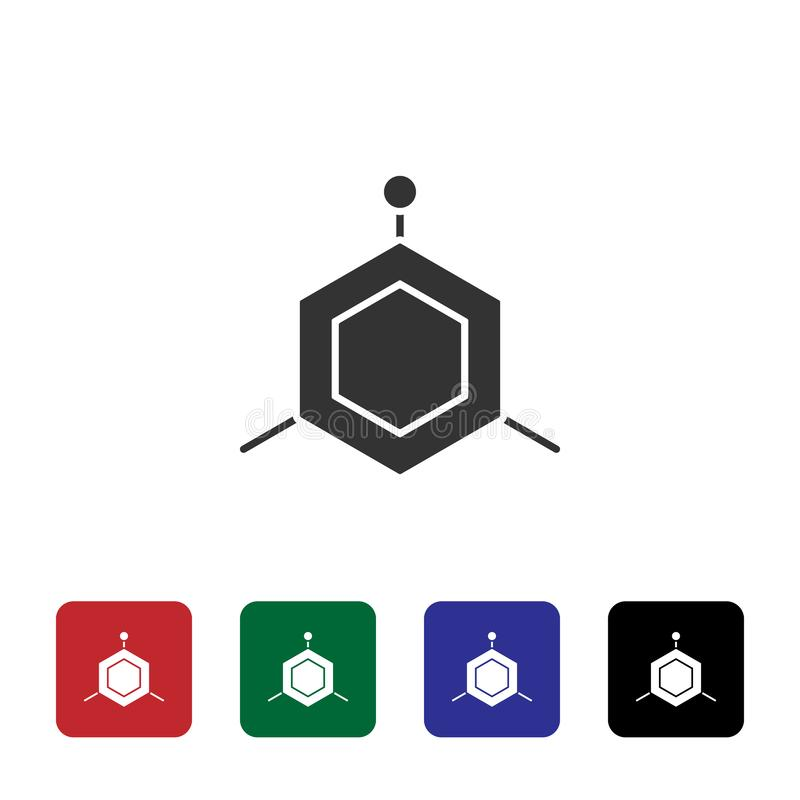 Icona di vettore delle molecole Illustrazione semplice dell'elemento dal concetto di biotecnologia Icona di vettore delle molecol illustrazione di stock