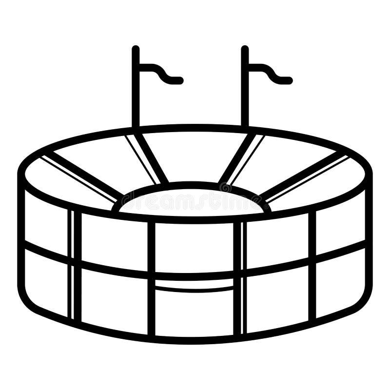 Icona di vettore dello stadio royalty illustrazione gratis