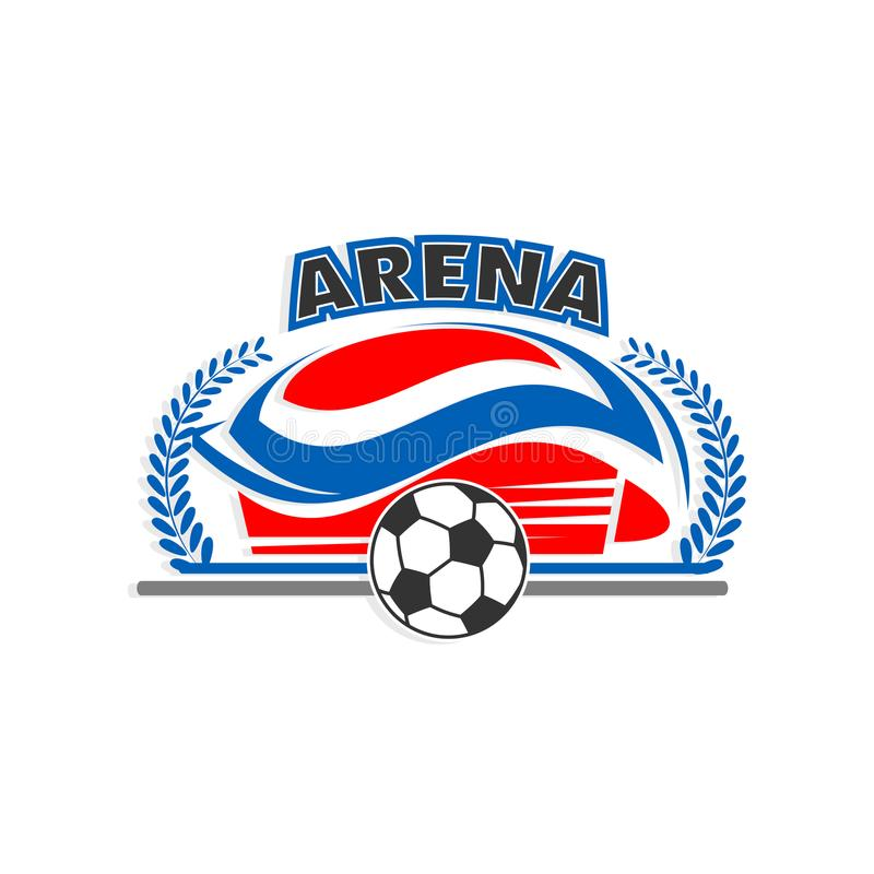 Icona di vettore dello stadio di sport di calcio o di calcio dell'arena illustrazione di stock
