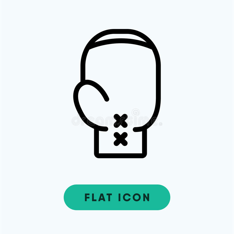 Icona di vettore di pugilato fotografie stock