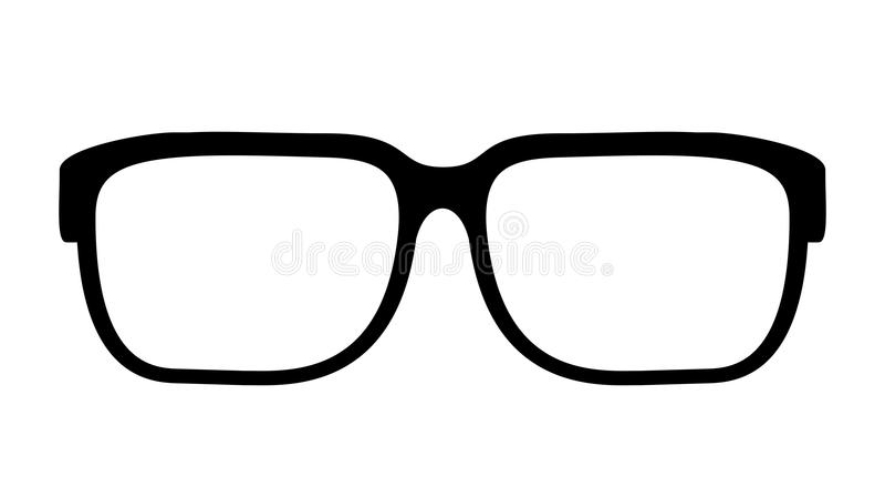 Icona di vettore di vetro dell'occhio illustrazione di stock