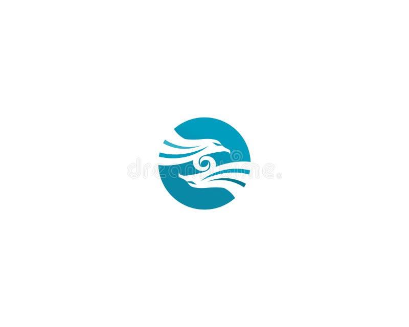 Icona di vettore di Eagle Bird Logo Template del falco royalty illustrazione gratis
