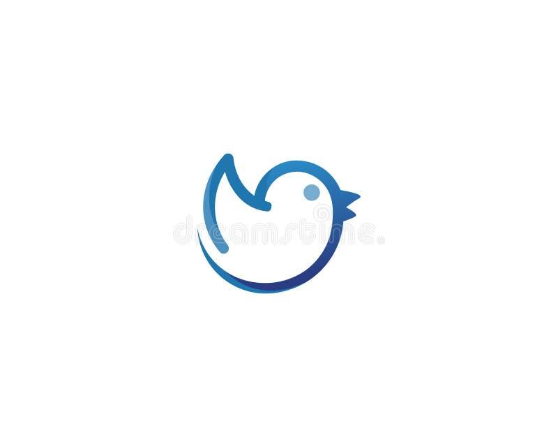 Icona di vettore di Eagle Bird Logo Template del falco illustrazione vettoriale