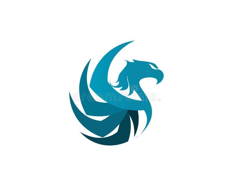 Icona di vettore di Eagle Birds Logo Template del falco illustrazione di stock