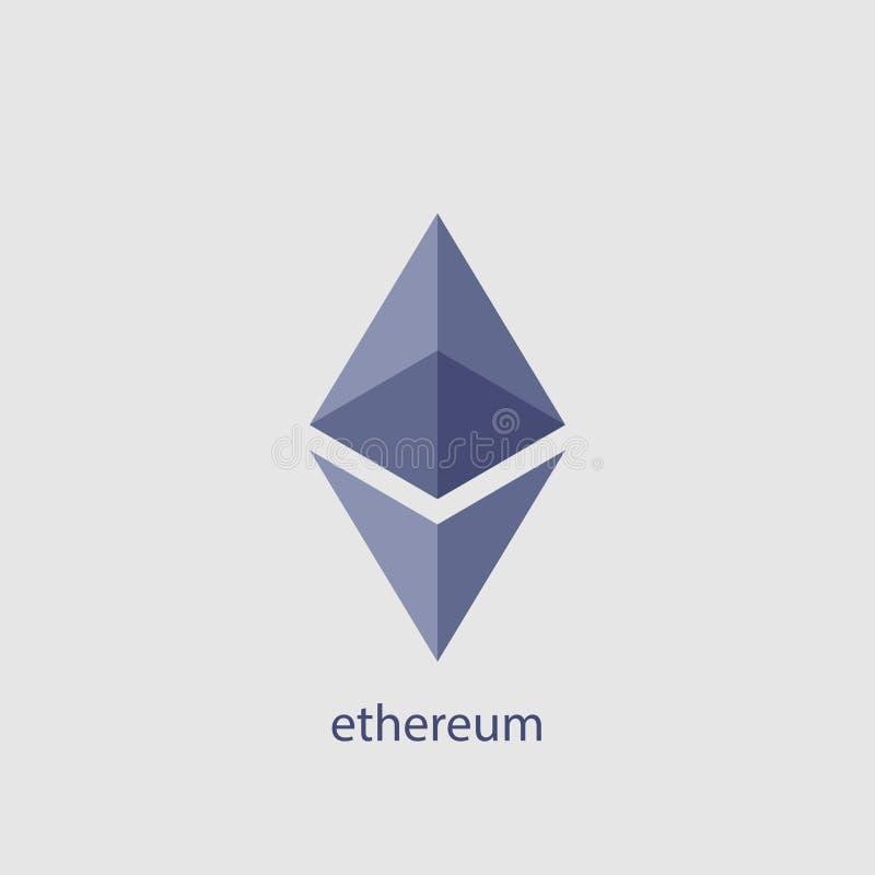 Icona di vettore di Ethereum Cryptocurrency di Ethereum Simbolo cripto di ethereum della moneta del blockchain di valuta royalty illustrazione gratis