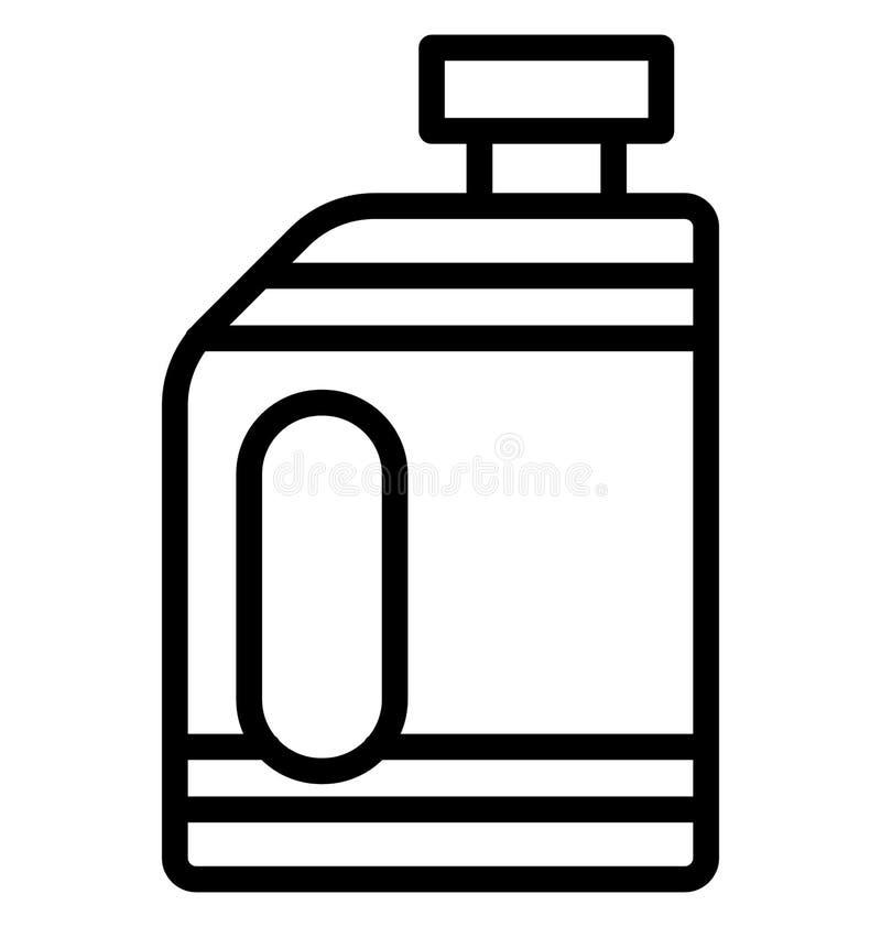 Icona di vettore di gallone del combustibile che può essere modificata o pubblicare facilmente in tutto il colore illustrazione di stock