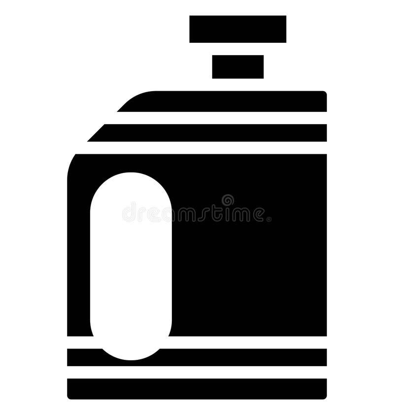Icona di vettore di gallone del combustibile che può essere modificata o pubblicare facilmente in tutto il colore royalty illustrazione gratis