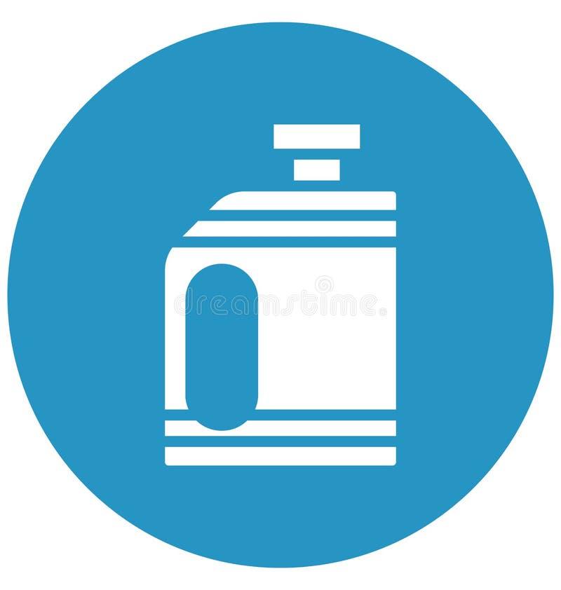 Icona di vettore di gallone del combustibile che può essere modificata o pubblicare facilmente in tutto il colore illustrazione vettoriale