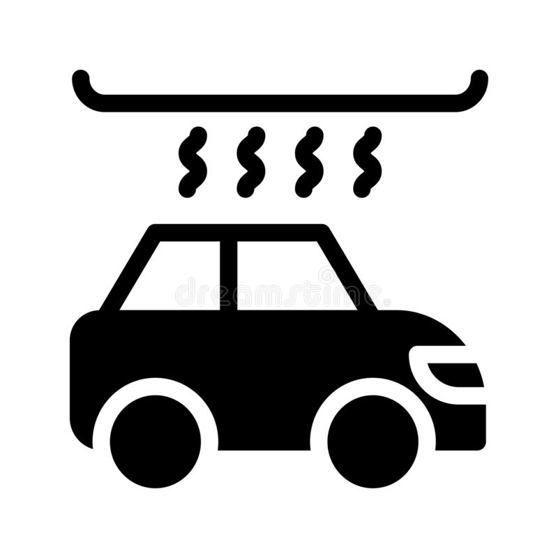 Icona di vettore di glifo di lavaggio dell'automobile royalty illustrazione gratis