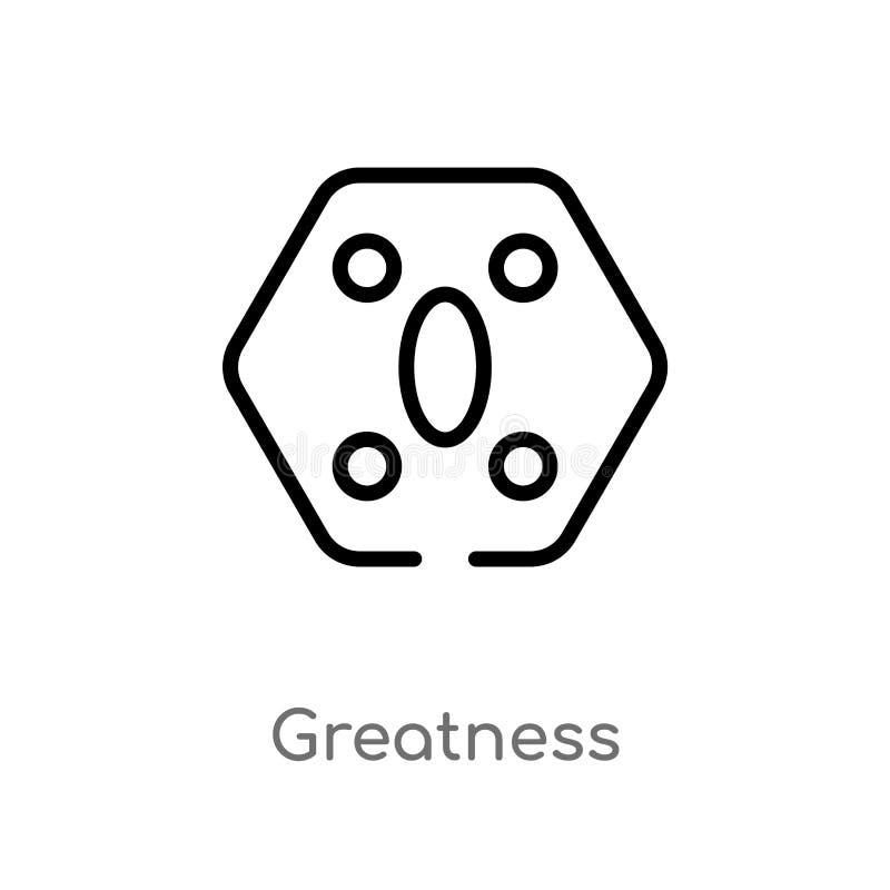 icona di vettore di grandezza del profilo linea semplice nera isolata illustrazione dell'elemento dal concetto dello zodiaco Colp illustrazione di stock
