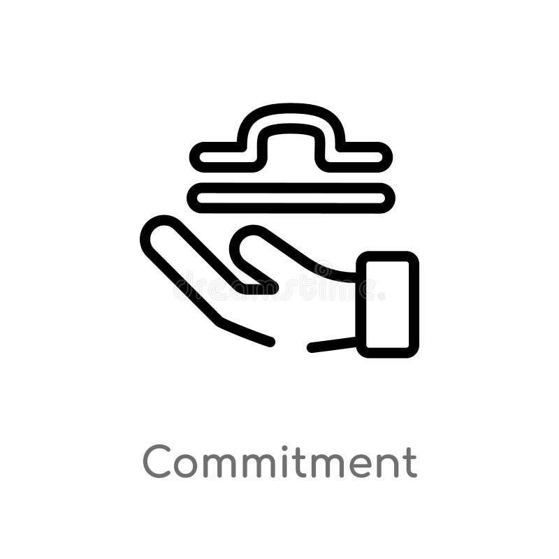 icona di vettore di impegno del profilo linea semplice nera isolata illustrazione dell'elemento dal concetto dello zodiaco Colpo  royalty illustrazione gratis