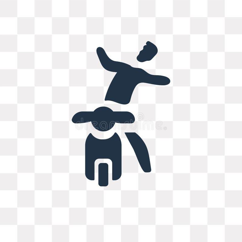 icona di vettore di incidente del motociclo isolata sul backgrou trasparente royalty illustrazione gratis