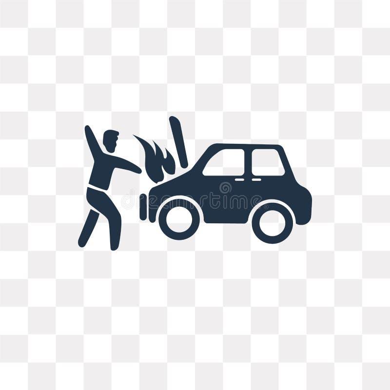 Icona di vettore di incidente isolata su fondo trasparente, Acciden illustrazione vettoriale