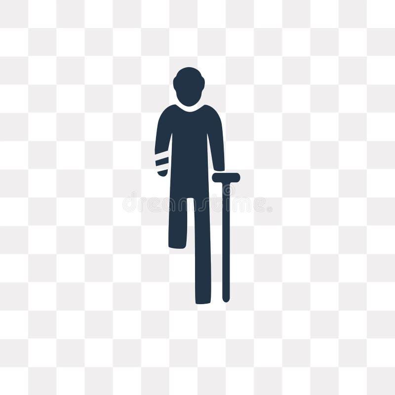 Icona di vettore di incidente isolata su fondo trasparente, Acciden royalty illustrazione gratis
