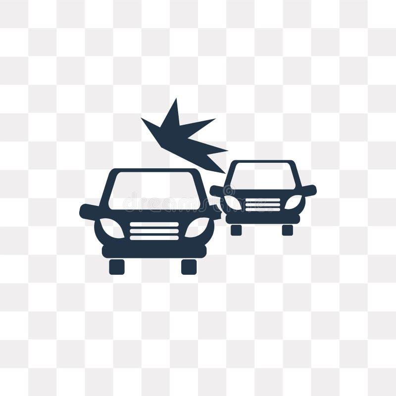 Icona di vettore di incidente isolata su fondo trasparente, Acciden illustrazione di stock