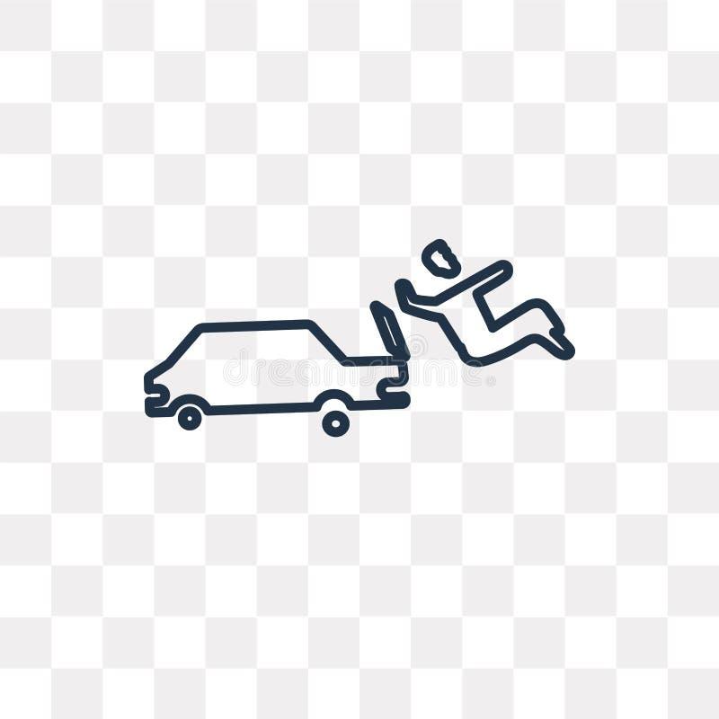 Icona di vettore di incidente stradale isolata su fondo trasparente, Lin royalty illustrazione gratis