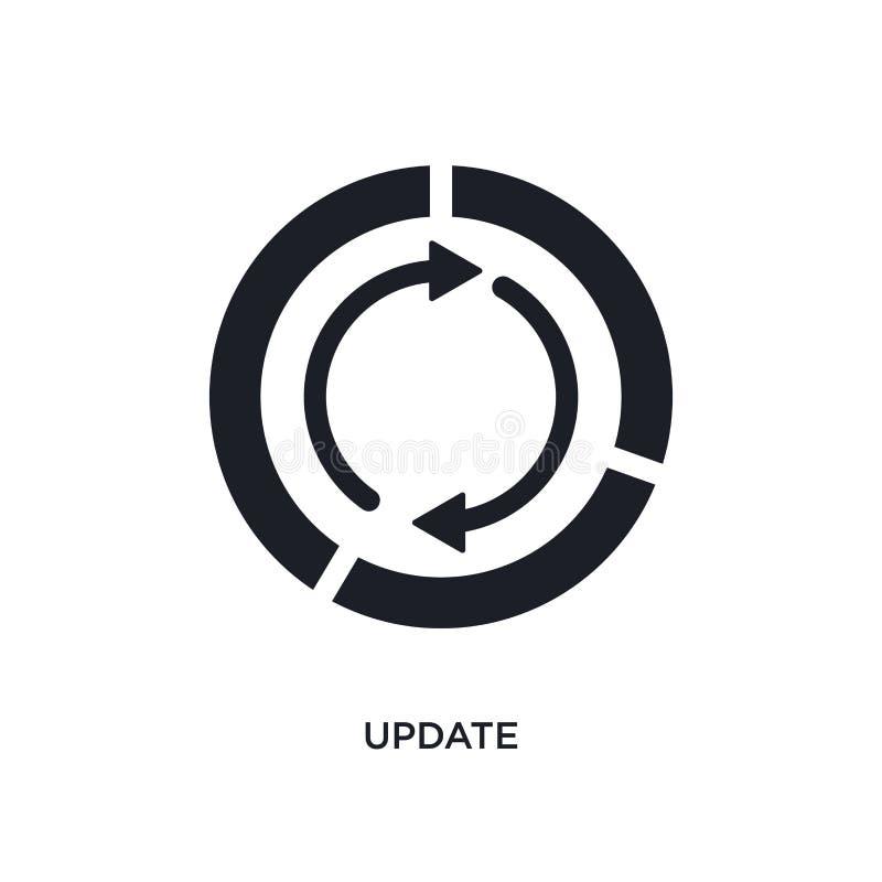 icona di vettore isolata aggiornamento nero illustrazione semplice dell'elemento dalle icone di vettore di concetto di infographi illustrazione vettoriale