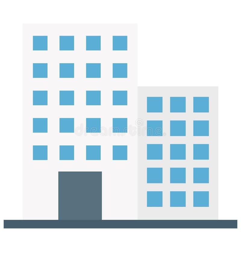 Icona di vettore isolata appartamenti per costruzione royalty illustrazione gratis