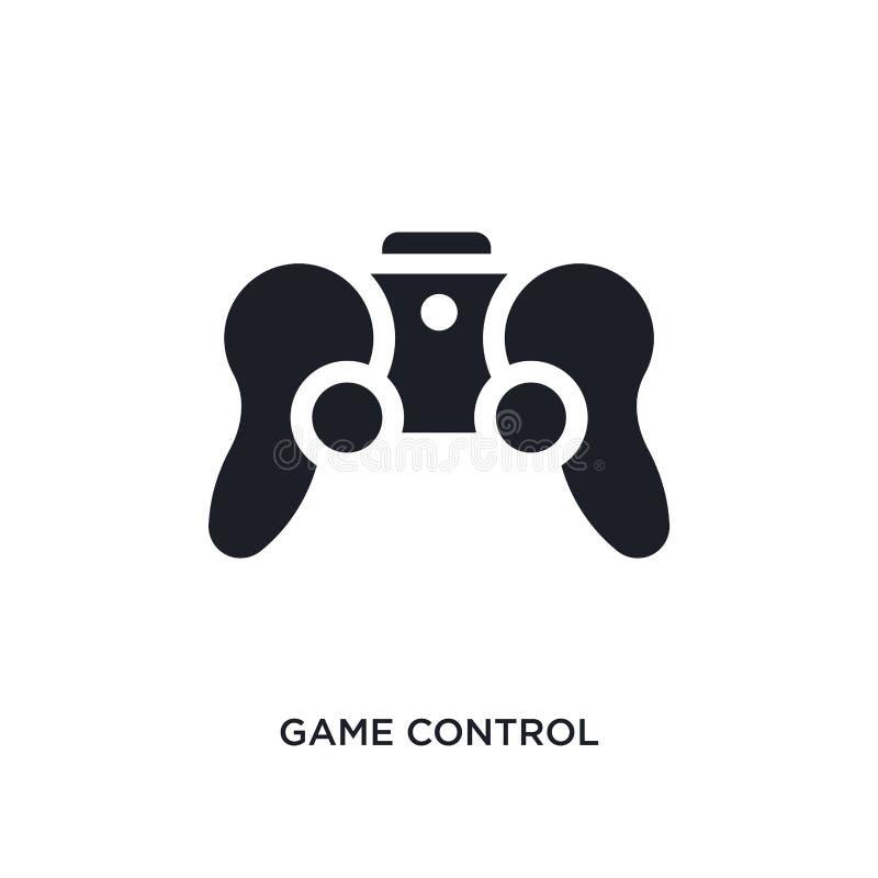 icona di vettore isolata controllo nero del gioco illustrazione semplice dell'elemento dalle icone aumentate di vettore di concet illustrazione di stock