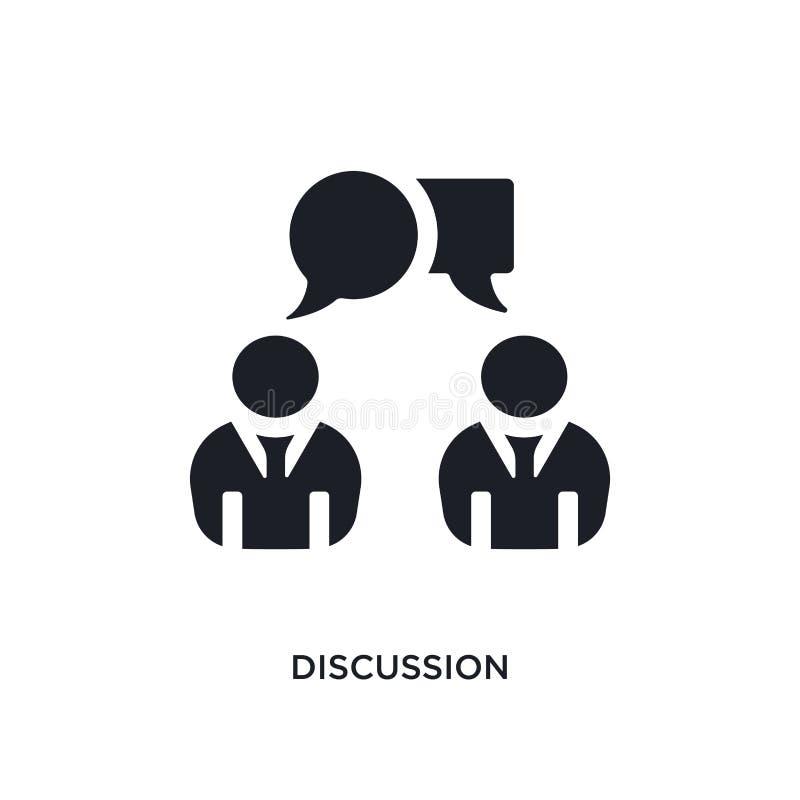 icona di vettore isolata discussione nera illustrazione semplice dell'elemento dalle icone di vettore di concetto di partenza log illustrazione di stock