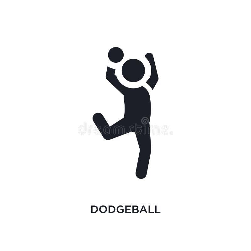 icona di vettore isolata dodgeball nero illustrazione semplice dell'elemento dalle icone di vettore di concetto di sport simbolo  royalty illustrazione gratis