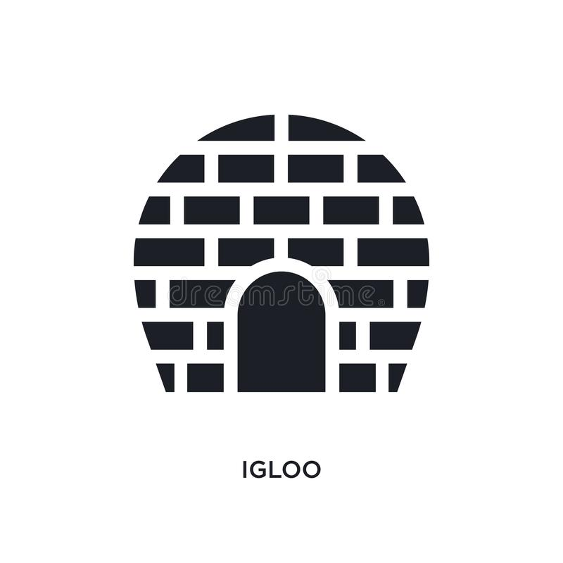 icona di vettore isolata iglù nero illustrazione semplice dell'elemento dalle icone di vettore di concetto di viaggio progettazio illustrazione vettoriale