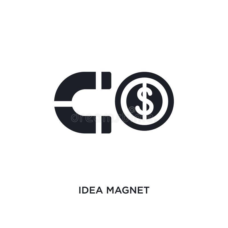 icona di vettore isolata magnete nero di idea illustrazione semplice dell'elemento dalla partenza stategy e dalle icone di vettor illustrazione di stock