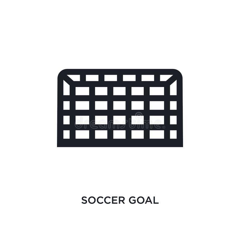 icona di vettore isolata scopo nero di calcio illustrazione semplice dell'elemento dalle icone di vettore di concetto di calcio i illustrazione vettoriale
