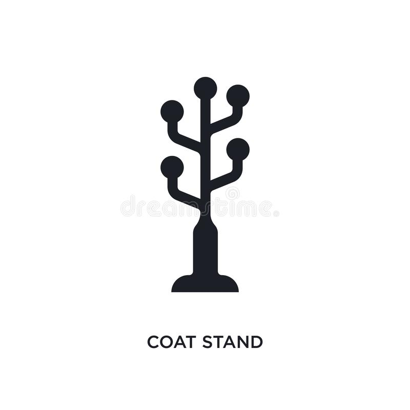 icona di vettore isolata supporto nero del cappotto illustrazione semplice dell'elemento dalle icone di vettore di concetto della illustrazione di stock