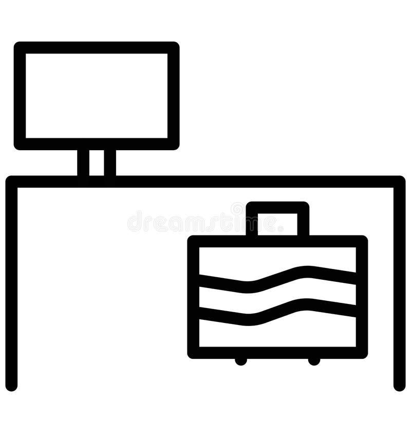 Icona di vettore isolata Tabella del computer che può essere facilmente di pubblicare o ha modificato illustrazione vettoriale