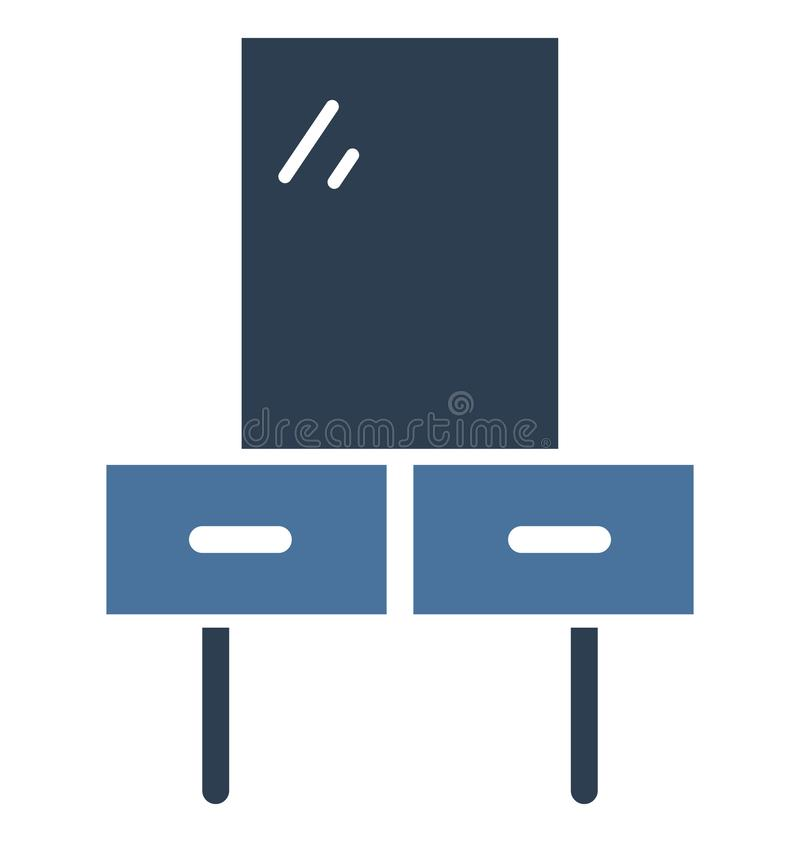 Icona di vettore isolata Tabella di vanità che può essere facilmente di pubblicare o ha modificato illustrazione di stock