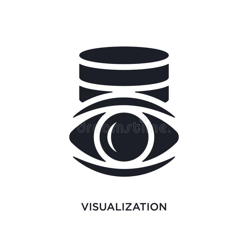 icona di vettore isolata visualizzazione nera illustrazione semplice dell'elemento dalle grandi icone di vettore di concetto di d illustrazione di stock