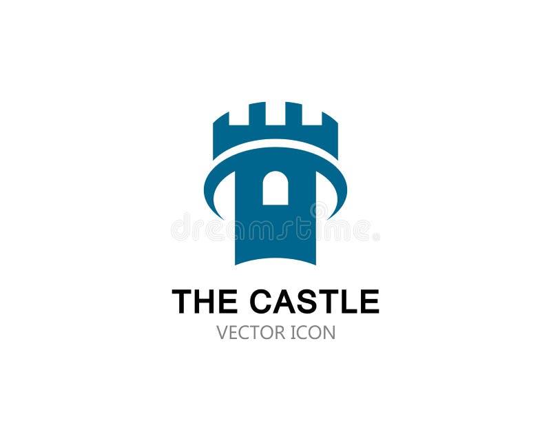 Icona di vettore di logo del castello illustrazione vettoriale