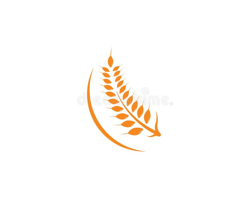 Icona di vettore di Logo Template del grano di agricoltura illustrazione di stock