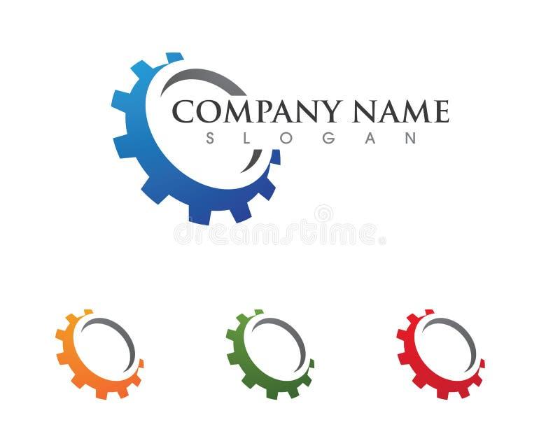 Icona di vettore di Logo Template dell'ingranaggio illustrazione vettoriale