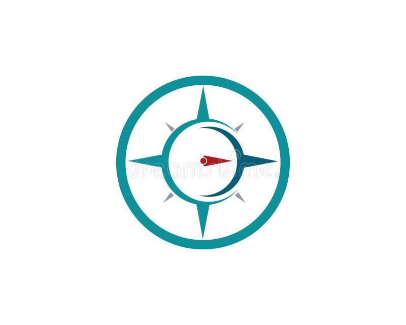 Icona di vettore di Logo Template della bussola illustrazione vettoriale