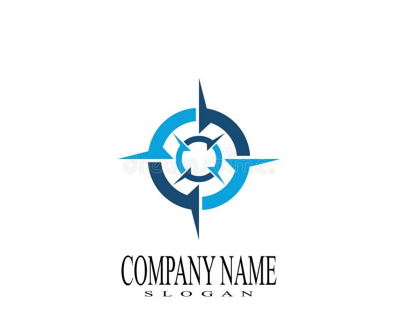 Icona di vettore di Logo Template della bussola fotografia stock