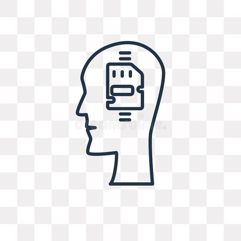 Icona di vettore di memoria isolata su fondo trasparente, lineare me royalty illustrazione gratis