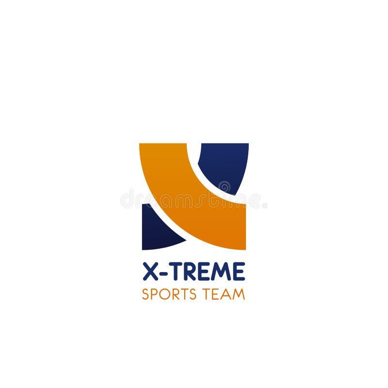Icona di vettore per lo sport di squadra estremo illustrazione vettoriale