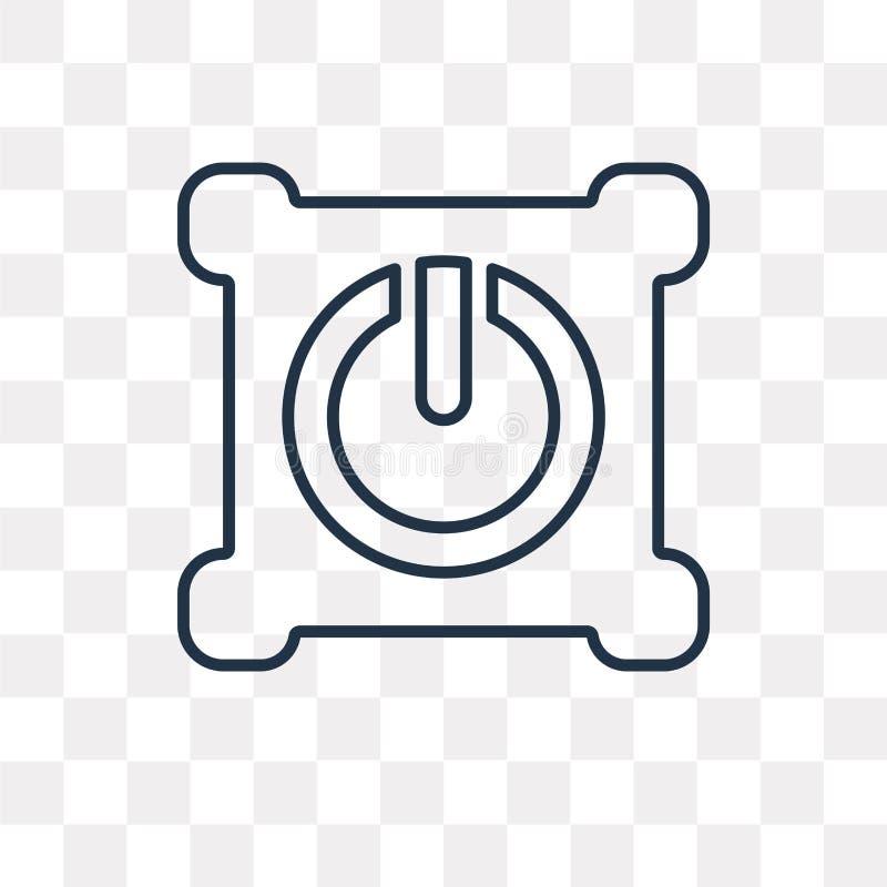 icona di vettore di potere isolata su fondo trasparente, prigioniero di guerra lineare illustrazione vettoriale