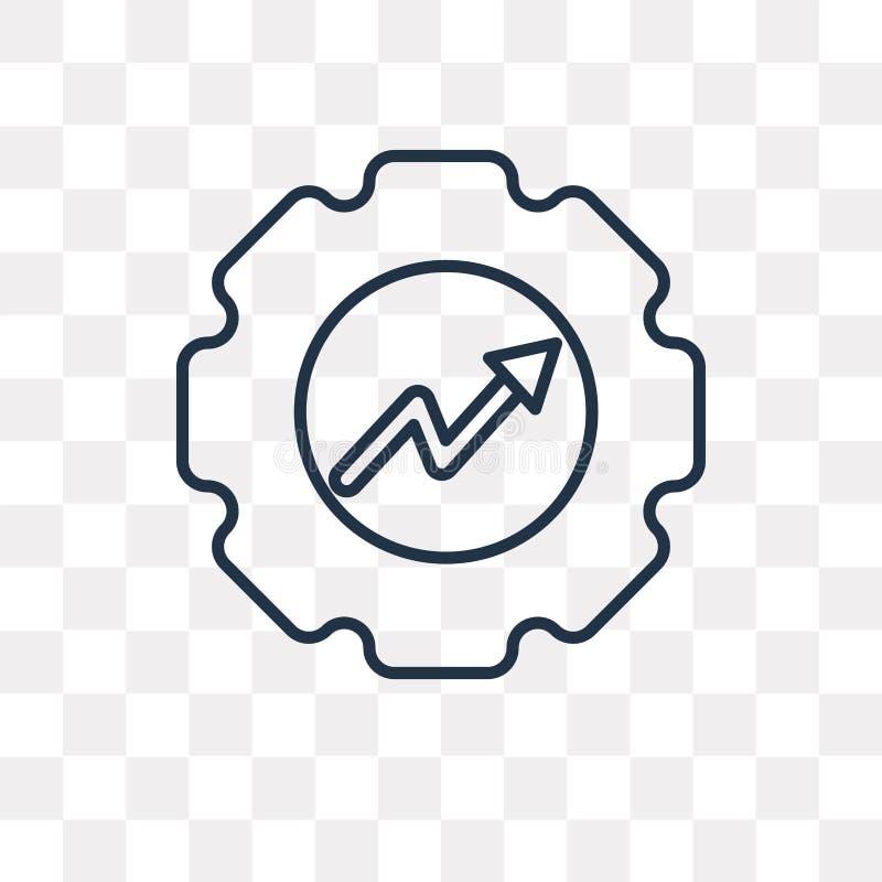 Icona di vettore di produttività isolata su fondo trasparente, Lin illustrazione vettoriale