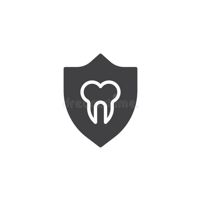 Icona di vettore di protezione del dente illustrazione vettoriale