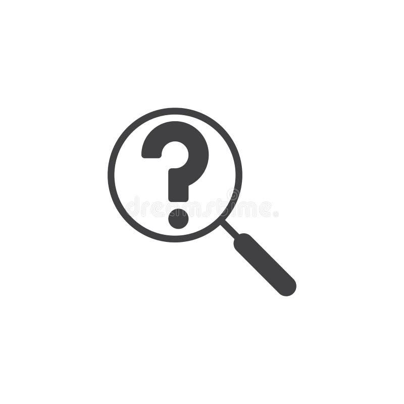 Icona di vettore di ricerca di domanda illustrazione di stock
