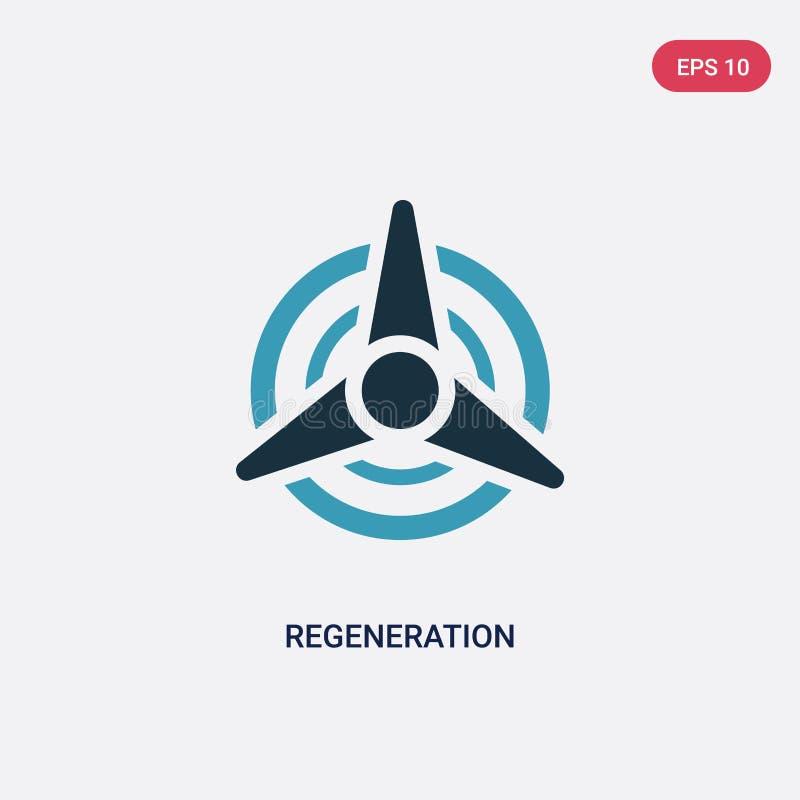 Icona di vettore di rigenerazione di due colori dal concetto di sauna il simbolo blu isolato del segno di vettore di rigenerazion royalty illustrazione gratis