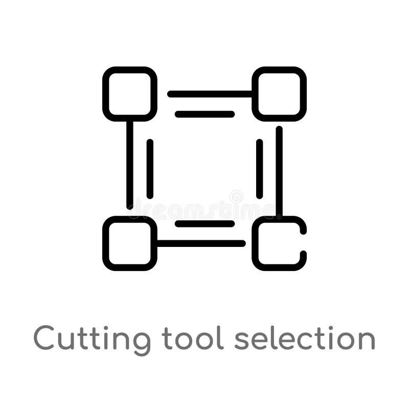 icona di vettore di selezione dell'utensile per il taglio del profilo linea semplice nera isolata illustrazione dell'elemento dal royalty illustrazione gratis